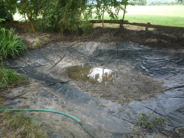 600 - 220 - Das Werk ist vollbracht - der Teich ist leer